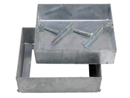 Klinkerdeksel 30x30 cm aluminium