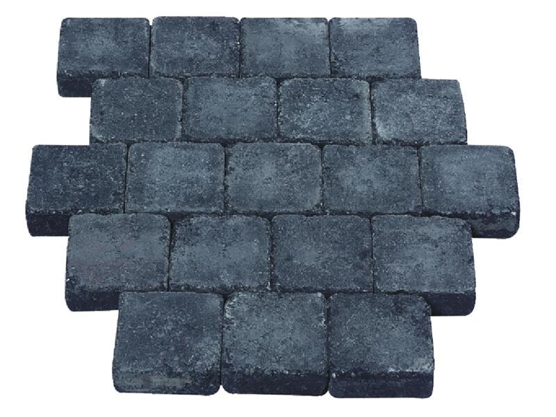 Klinkers getrommeld 10x10x4 cm zwart