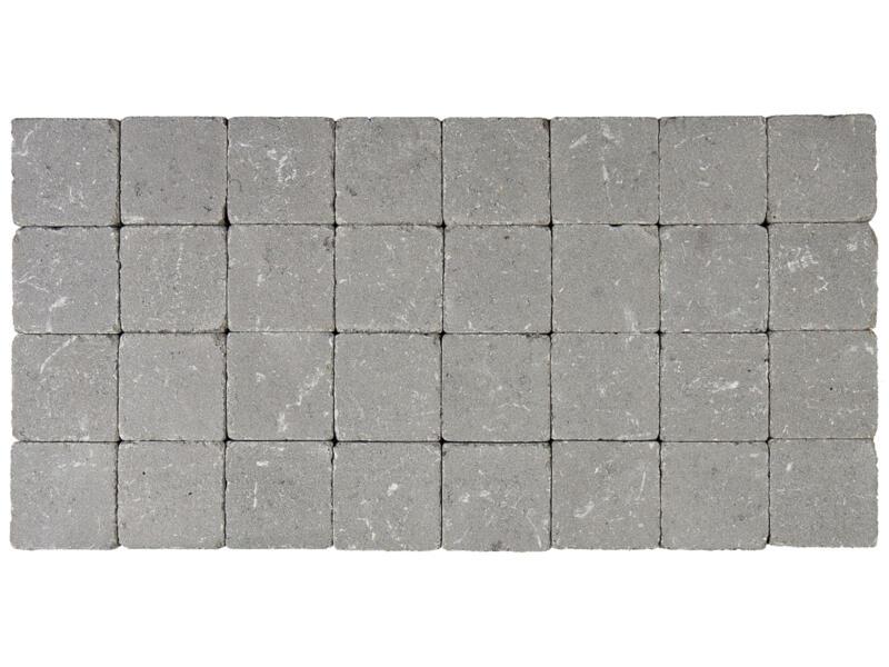 Klinkers getrommeld 10x10x6 cm grijs