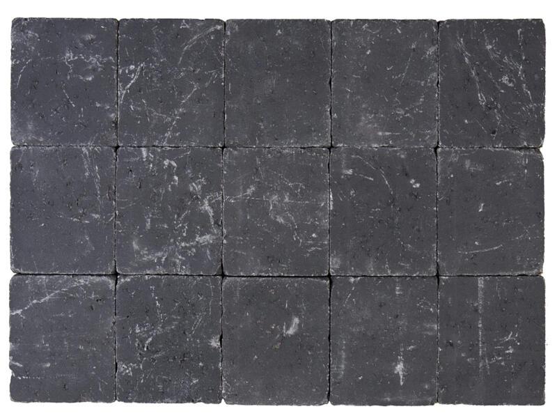 Klinkers getrommeld 15x15x5 cm zwart