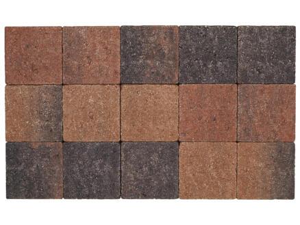 Klinkers in-line 15x15x6 cm bruin en zwart