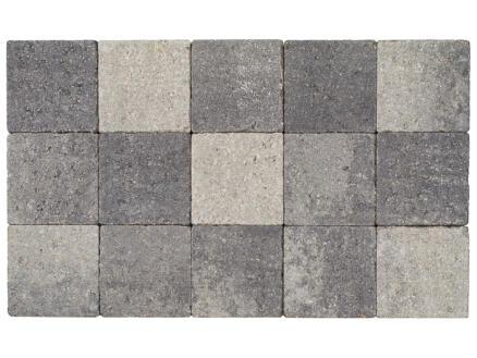Klinkers in-line 15x15x6 cm gris et noir