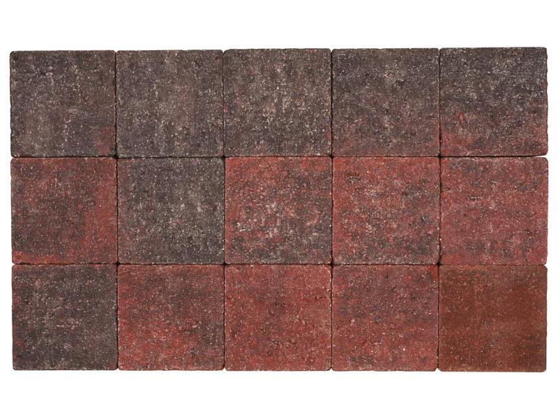 Klinkers in-line 15x15x6 cm rood en zwart
