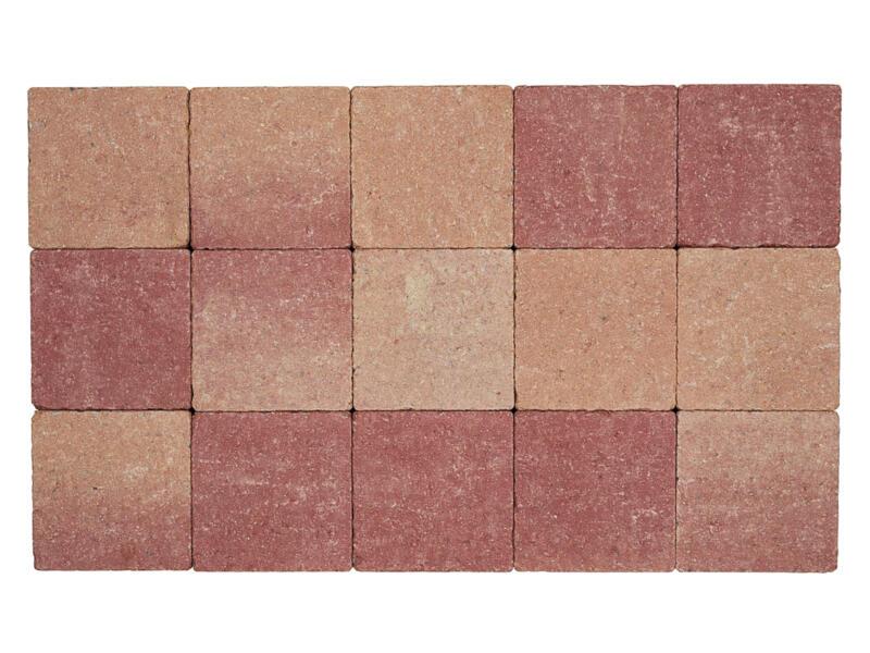 Klinkers in-line 15x15x6 cm rose-rouge