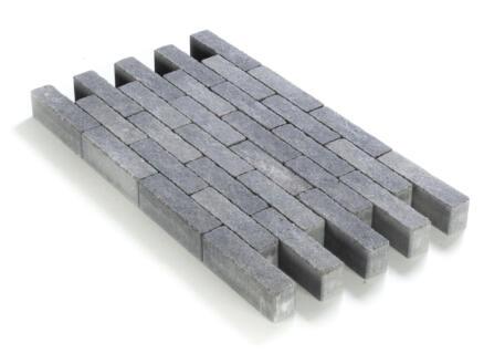 Klinkers in-line 20x5x6 cm grijs-zwart