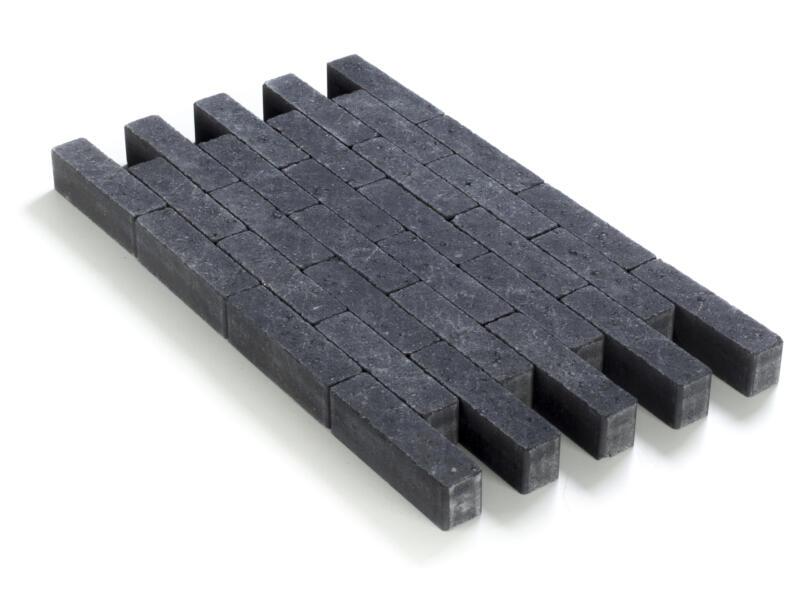 Klinkers in-line 20x5x6 cm noir