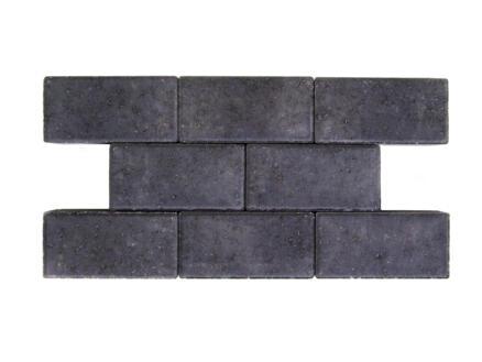 Klinkers niet-getrommeld 22x11x5 cm zwart