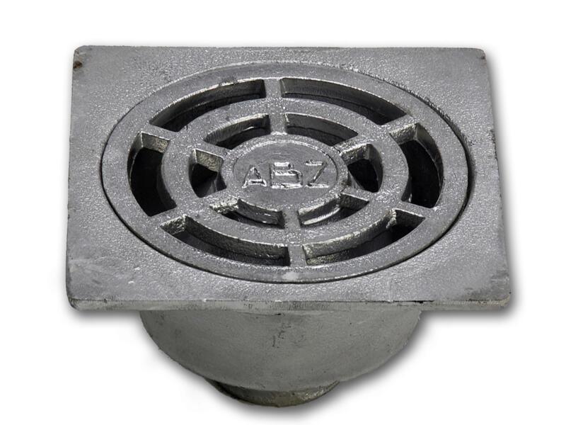 Klokrooster 15x15 cm aluminium