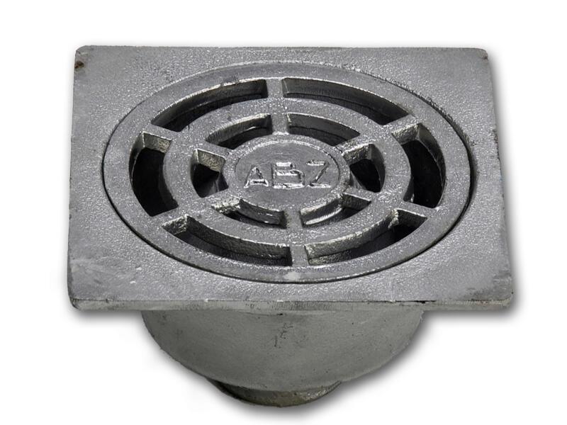 Klokrooster 25x25 cm aluminium