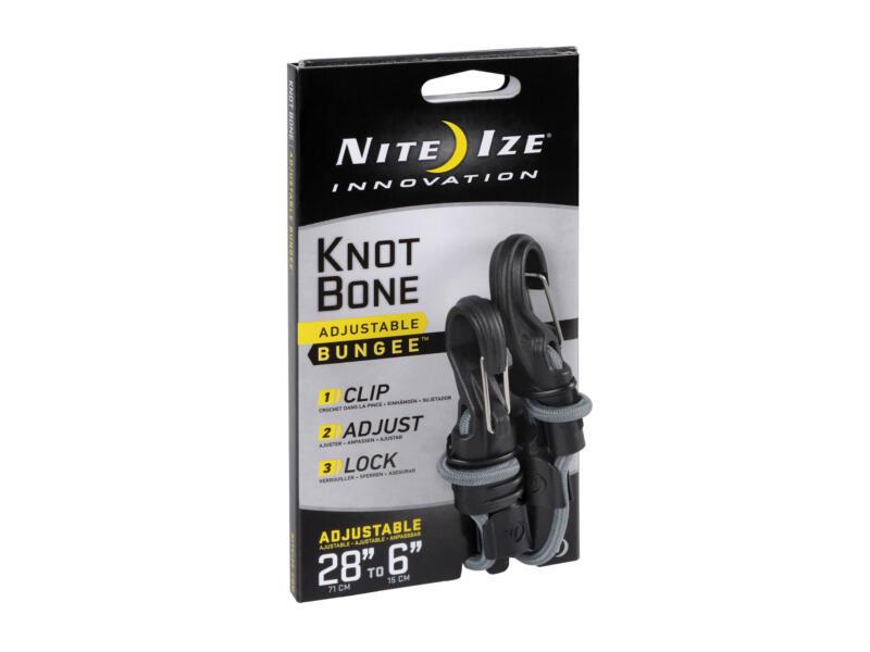 Nite Ize KnotBone snelbinder verstelbaar 2 haken 15-71 cm