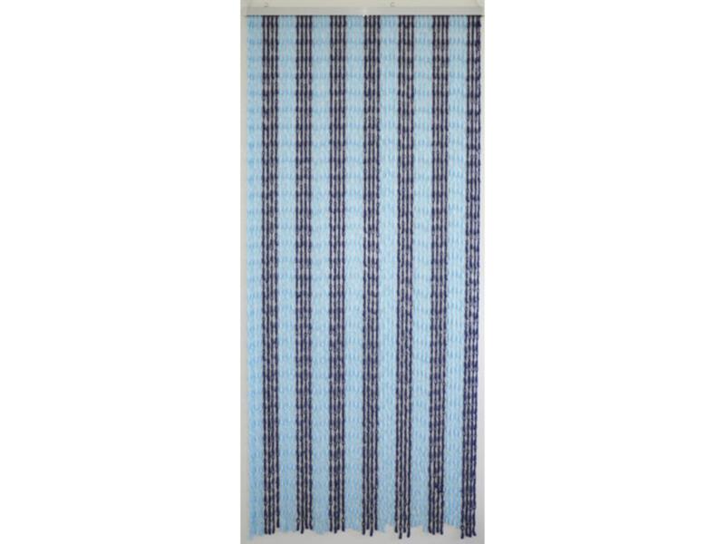 Confortex Knots rideau de porte 90x200 cm bleu