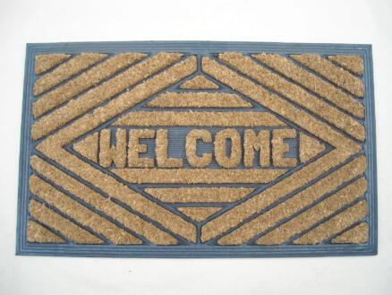 Kokosmat rubber welcome 40x60 cm