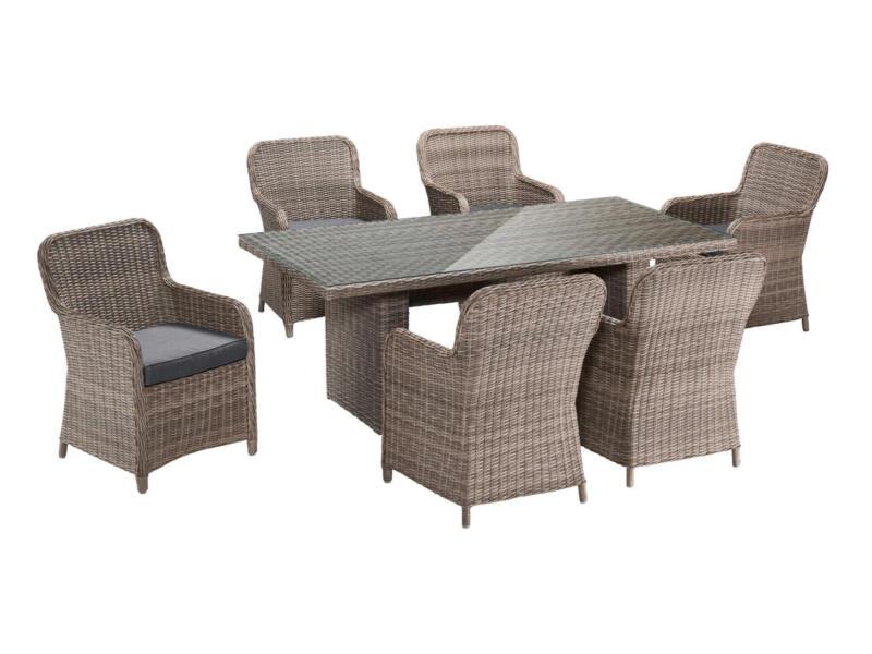 Garden Plus Kolossi chaise de jardin brun/gris