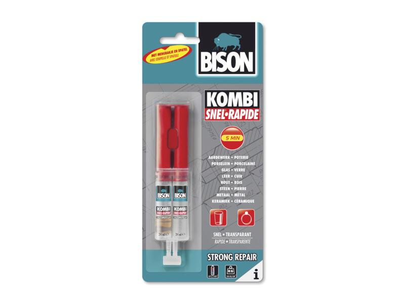 Bison Kombi Rapide colle bi-composant 2x24 ml transparent