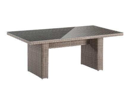 Garden Plus Kouklia table de jardin 230x100 cm brun