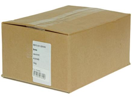 Krammen 4x40 mm verzinkt 5kg