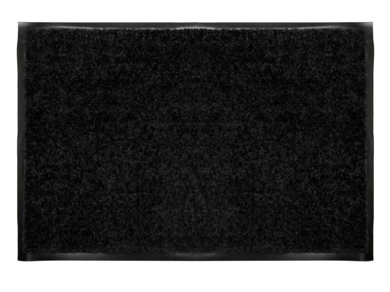 Kristal voetmat 40x60 cm zwart