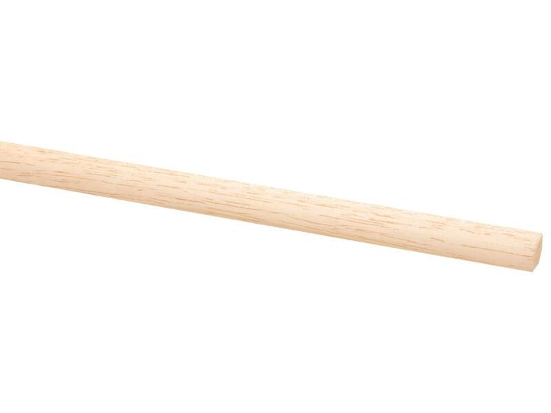 Kwartronde lat 12x12 mm 270cm hardhout