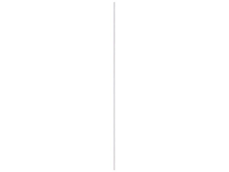 Kwartronde lat 13x13 mm 260cm wit houtnerf
