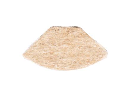 Kwartronde lat 13x13 mm 260cm witte es