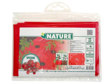 Kweekfolie tomaten 5x0,95 m rood