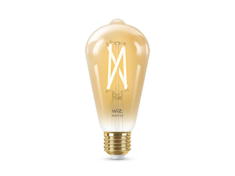 Wiz LED Edison-lamp filament amberglas E27 8W dimbaar