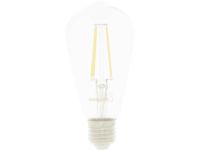 Philips LED Edisonlamp filament E27 7,2W dimbaar