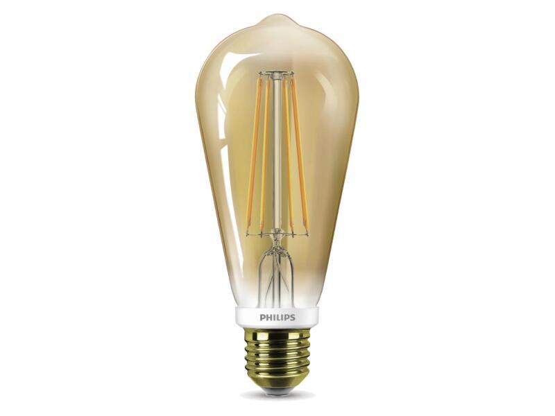 Philips LED Edisonlamp goud E27 7W dimbaar