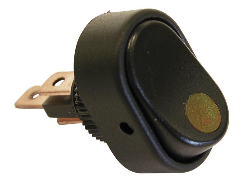 Carpoint LED Schakelaar 12V 30A geel