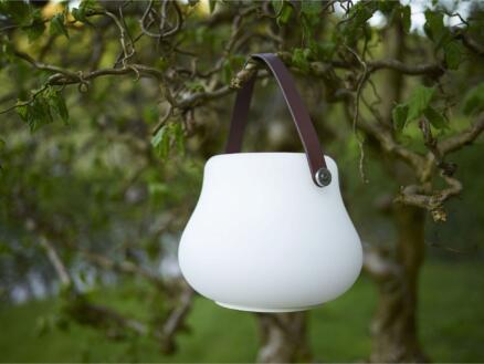 LED bloempot 20cm wit