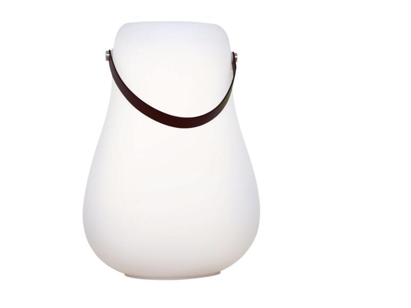 LED bloempot 44cm wit