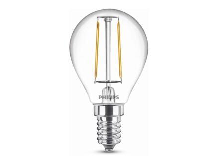Philips LED bollamp filament E14 2W
