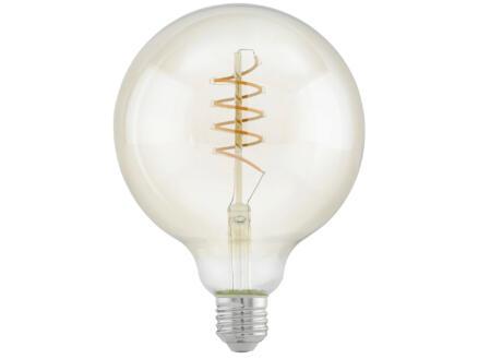 Eglo LED bollamp filament amberglas E27 4W dimbaar