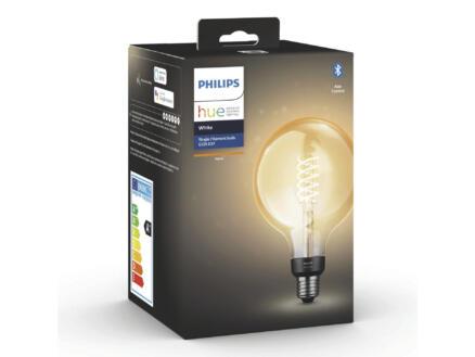 Philips Hue LED bollamp filament donker glas E27 7W dimbaar