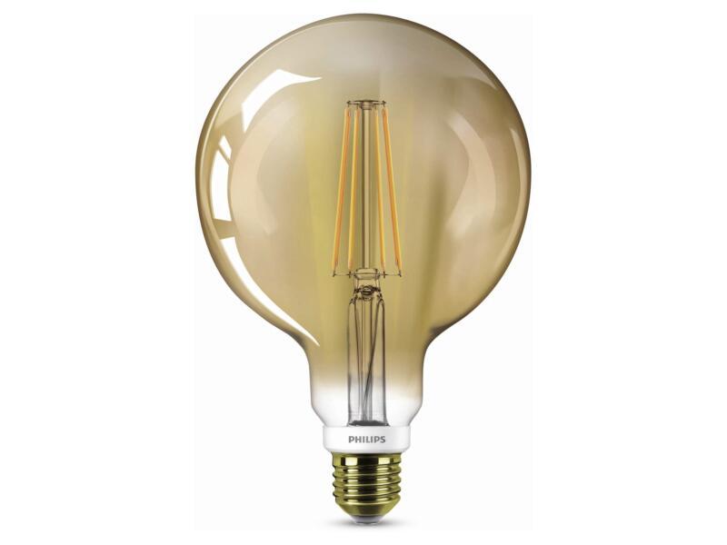 Philips LED bollamp filament goud E27 7W dimbaar