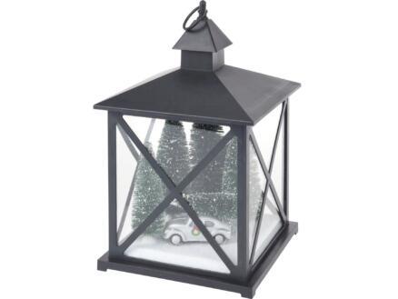 LED lantaarn met kerstscene zwart beschikbaar in 2 modellen
