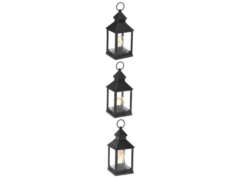 LED lantaarn zwart beschikbaar in 3 modellen