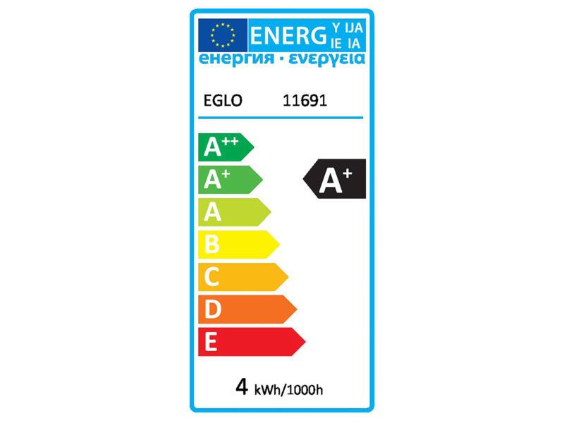Eglo LED peerlamp filament E27 4W 7,5cm dimbaar