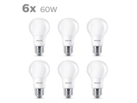 Philips LED peerlamp mat E27 8W 6 stuks