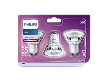 Philips LED spot GU10 3,5W 3 pièces