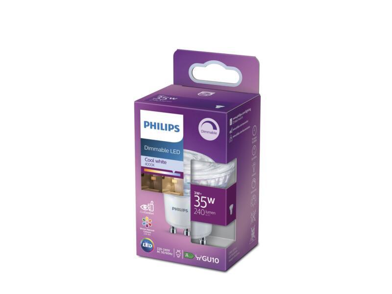 Philips LED spot GU10 3W dimbaar koud wit