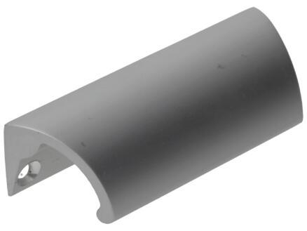 Ladegreep 90x21x28 mm aluminium mat