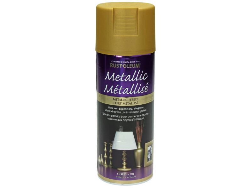 Lakspray metallic 0,4l goud