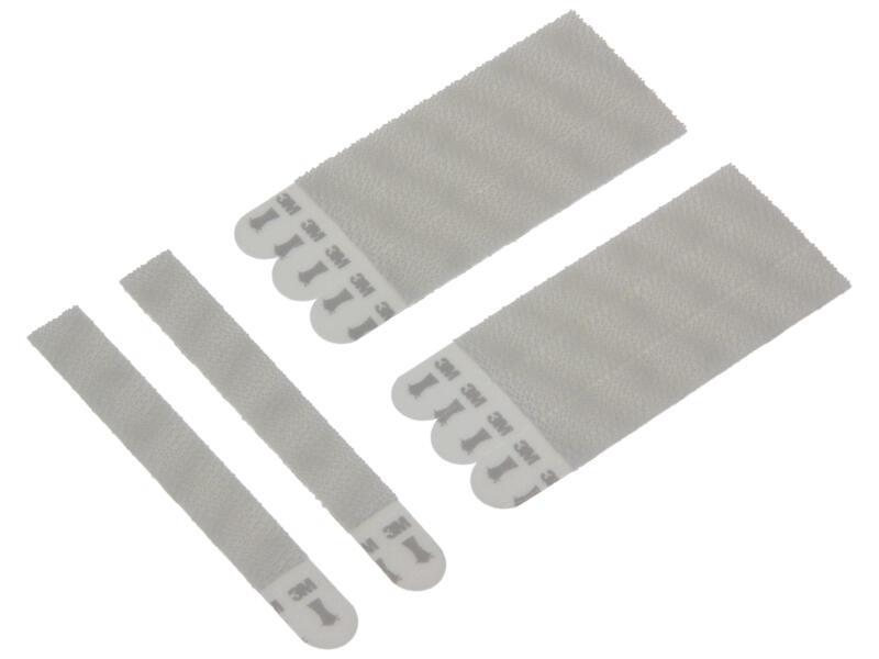 Command Languettes auto-agrippantes étroites blanc