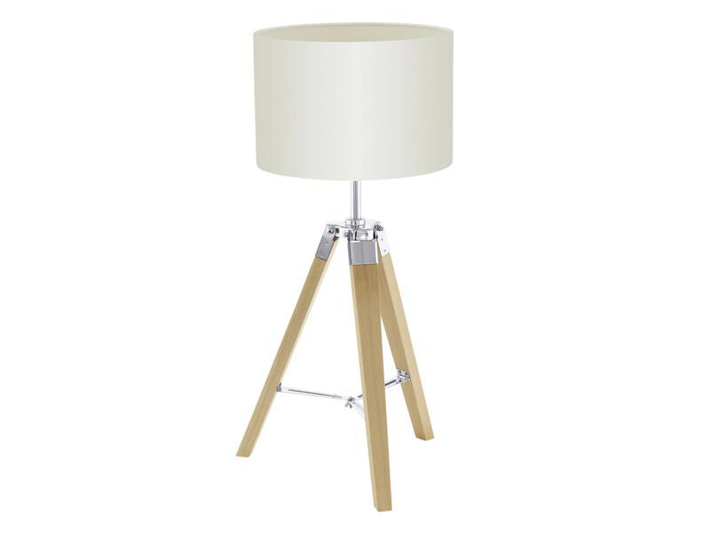 Eglo Lantada lampe de table trépied E27 60W beige