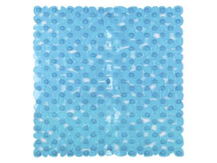 Differnz Lapis tapis de douche antidérapant 54x54 cm bleu