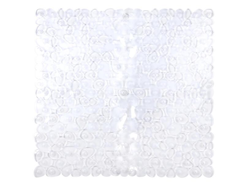 Lapis tapis de douche antidérapant 54x54 cm transparent