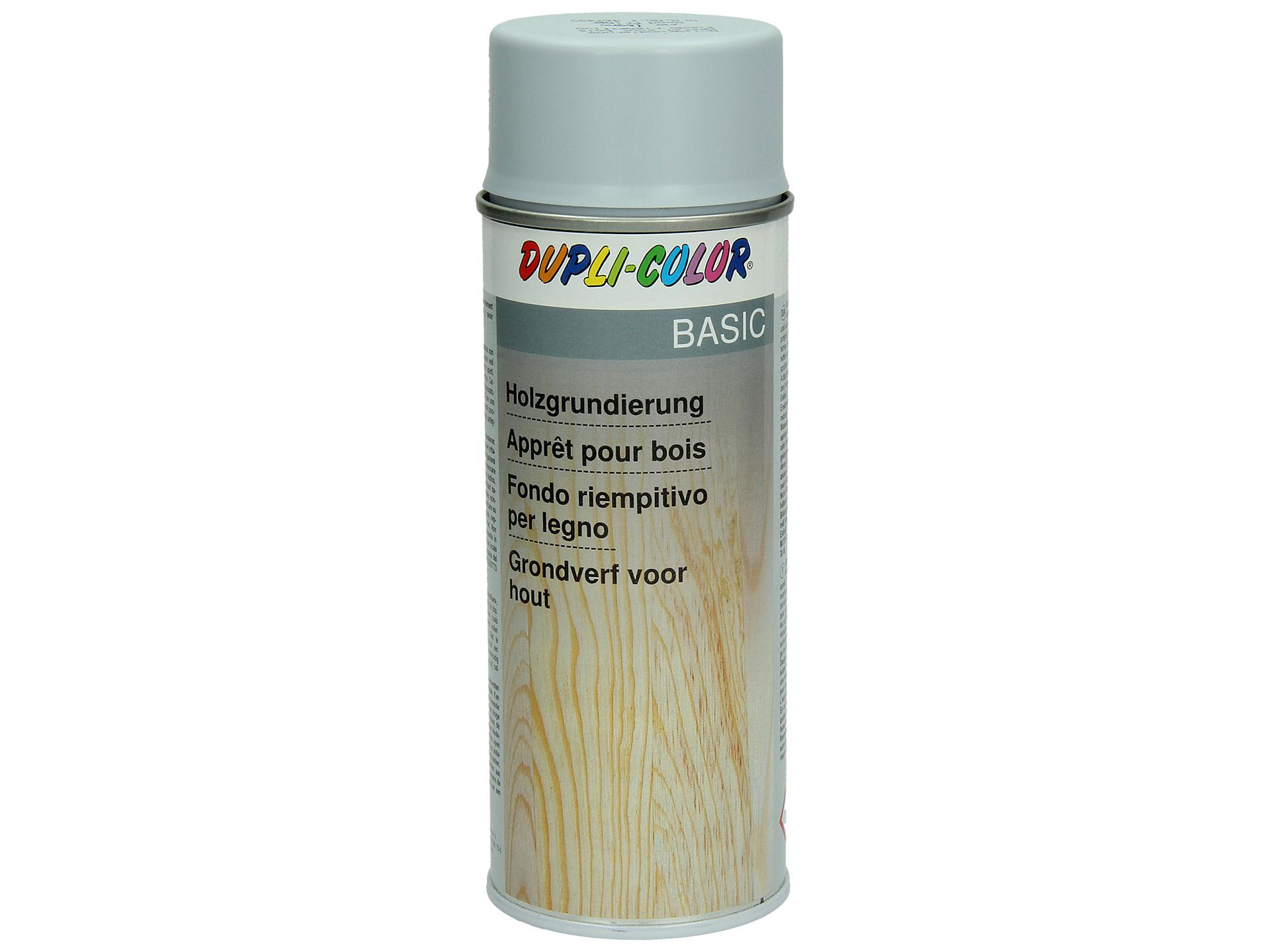 dupli color laque en spray basic grondverf voor hout 400ml gris | hubo