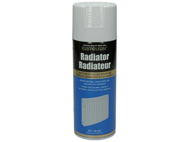 Laque en spray peinture radiateur brillant 0,4l blanc