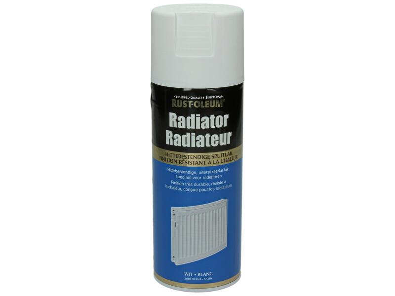 Laque en spray peinture radiateur satin 0,4l blanc